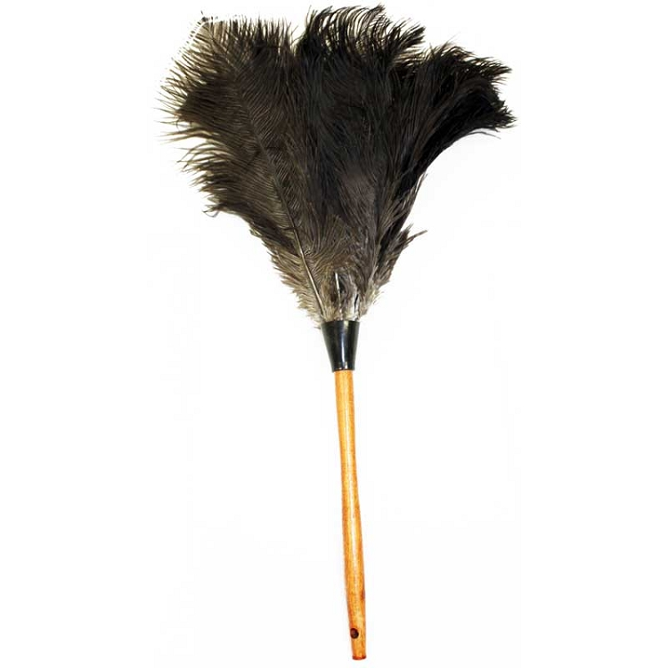 Ostrich Feather Duster Wood Handle 23 Inches