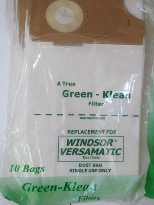 Windsor Versamatic Vacuum Bags 100 Pack by Green Klean