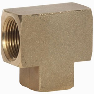 Brass Pipe Tee Fitting 1/4