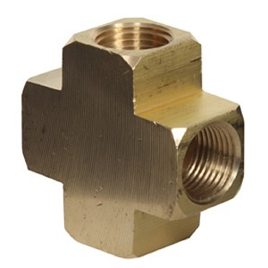 Brass Pipe Cross Fittings 1/4
