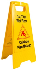 Yellow Caution Wet Floor Sign  AW04