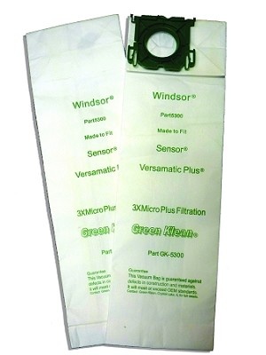 Windsor Vacuum Bags Sensor 30 Pack Green Klean 5300
